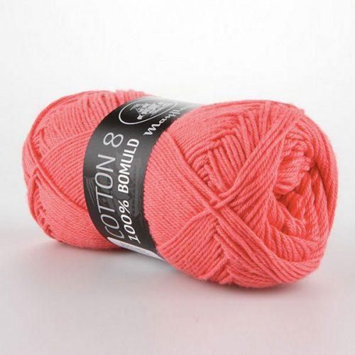 mayflower-cotton-84-garn-unicolor-1460-koral