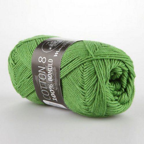 mayflower-cotton-84-garn-unicolor-1476-graesgron