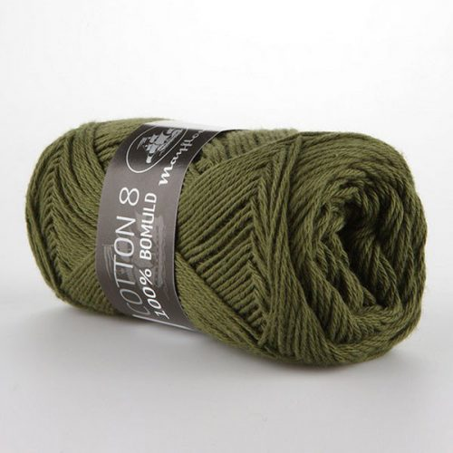 mayflower-cotton-84-garn-unicolor-1487-armygron