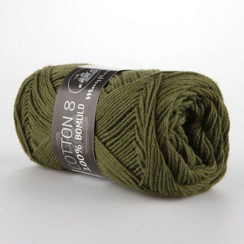 mayflower-cotton-84-garn-unicolor-1487-armygron