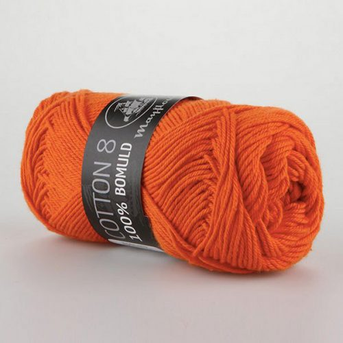mayflower-cotton-84-garn-unicolor-1494-mork-orange
