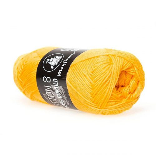 mayflower-cotton-84-garn-unicolor-1498-solgul