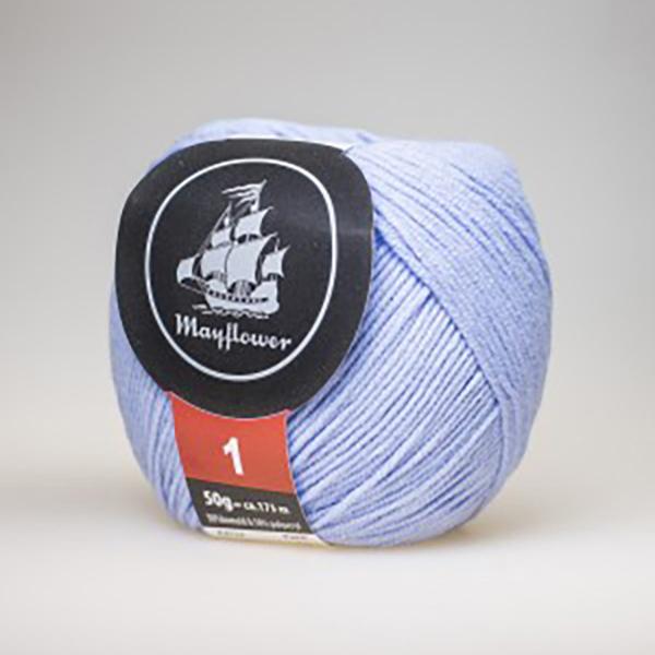 mayflower-cotton-1-garn-unicolor-123-lys-blaa