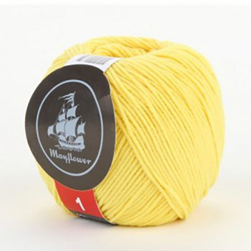 mayflower-cotton-1-garn-unicolor-135-gul