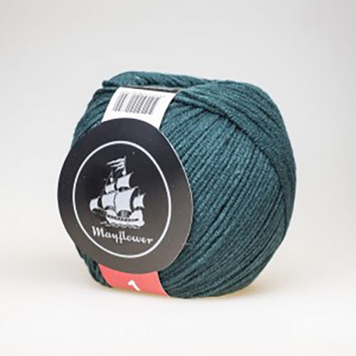 mayflower-cotton-1-garn-unicolor-139-flaskegroen