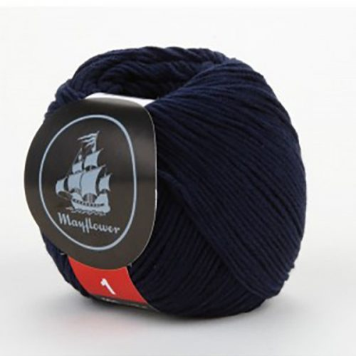 mayflower-cotton-1-garn-unicolor-144-marineblaa