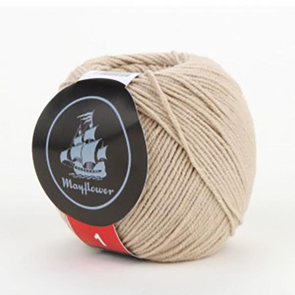 mayflower-cotton-1-garn-unicolor-147-beige