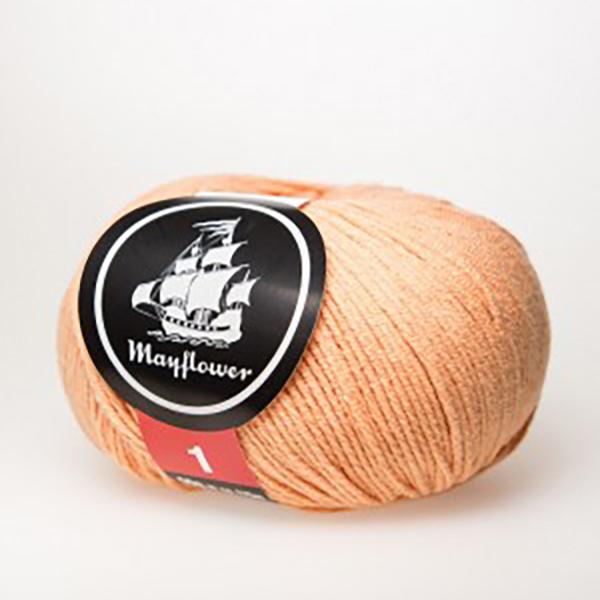 mayflower-cotton-1-garn-unicolor-151-fersken