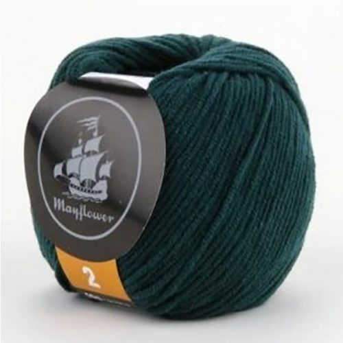 mayflower-cotton-2-garn-unicolor-239-flaskegroen