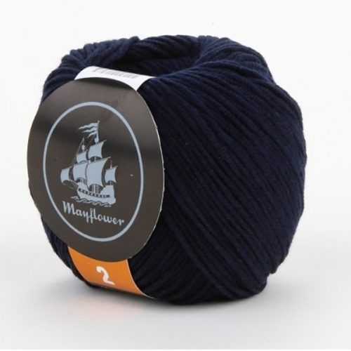 mayflower-cotton-2-garn-unicolor-244-marineblaa