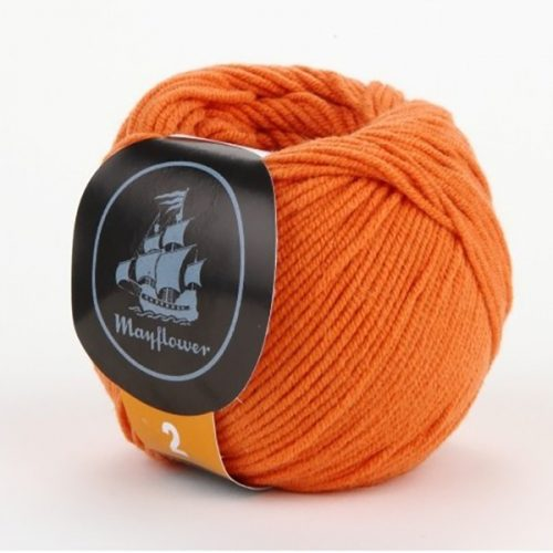 mayflower-cotton-2-garn-unicolor-246-orange