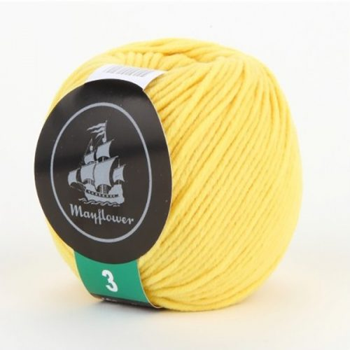 mayflower-cotton-3-garn-unicolor-335-gul