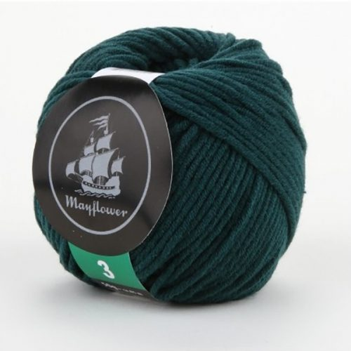 mayflower-cotton-3-garn-unicolor-339-flaskegroen