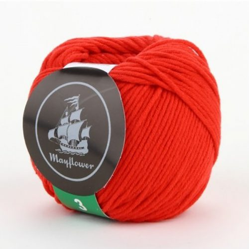 mayflower-cotton-3-garn-unicolor-345-roed