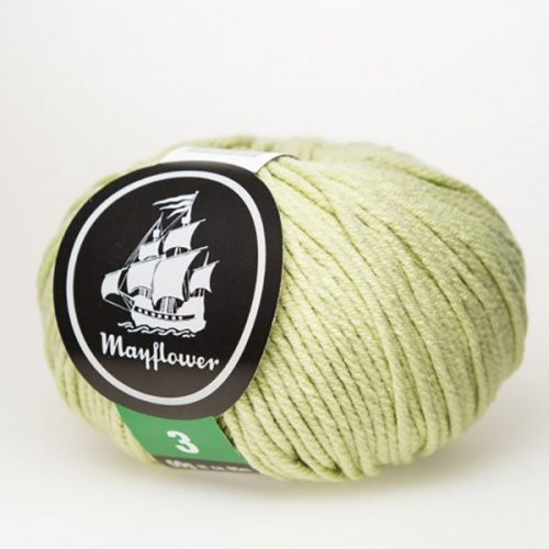 mayflower-cotton-3-garn-unicolor-348-pistacie
